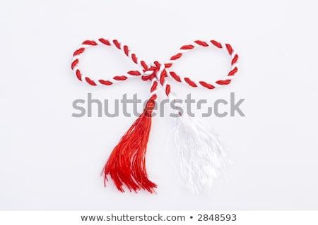 Tradicional rojo blanco aislado Foto stock © mady70