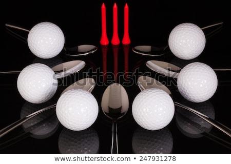 гольф оборудование черный стекла таблице столе Сток-фото © CaptureLight
