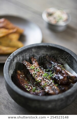 grilled marinated pork ribs with sweet sesame sauce Stock photo © travelphotography