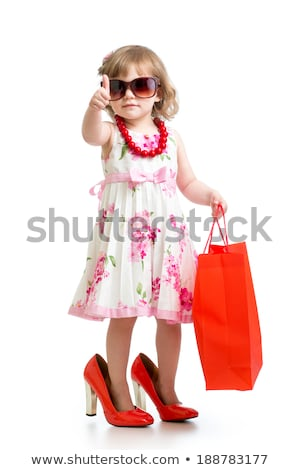 Cute petite fille blanche isolé visage fond Photo stock © tamasvargyasi
