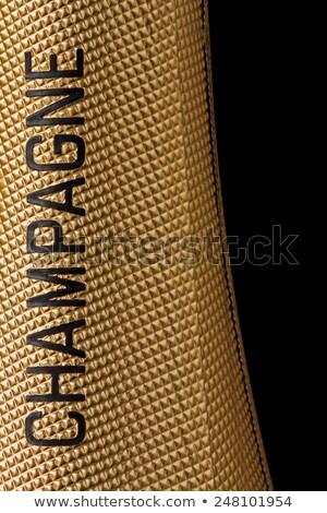 シャンパン · ボトル · 首 · クローズアップ · 孤立した · 白 - ストックフォト © oleksandro
