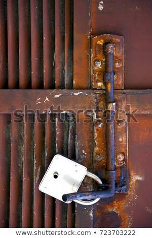 Abstract kruis staal Italië gesloten roestige Stockfoto © lkpro