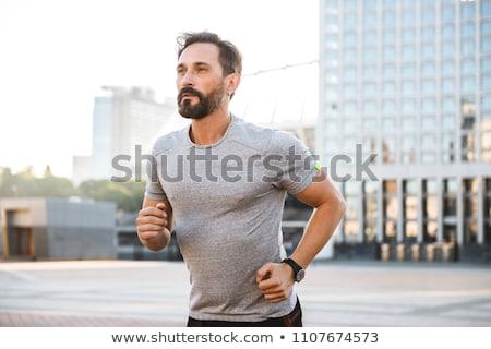 Porträt gesunden reifer Mann isoliert weiß Lächeln Stock foto © AndreyPopov