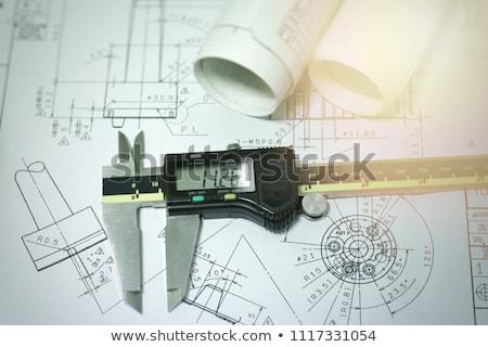 Metaal geïsoleerd witte industrie industriële machine Stockfoto © GeniusKp
