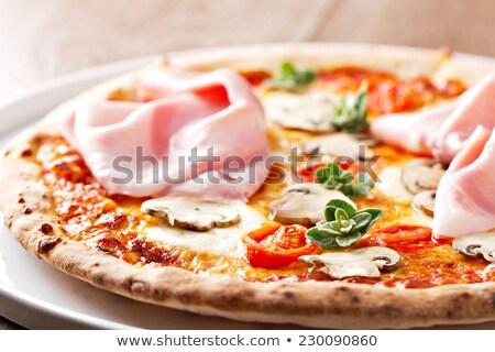 mozzarella smoked ham and fresh tomatoes stock photo © barbaraneveu