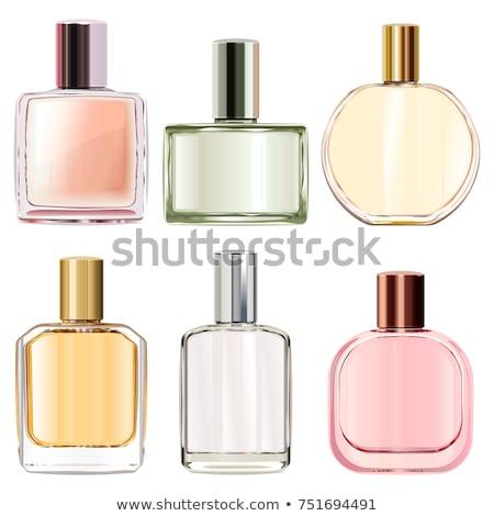 Botellas imagen tres dama artículos de tocador mesa Foto stock © pressmaster