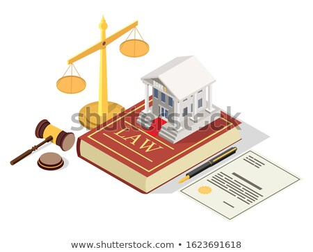 A law book with a gavel - Banking law Stock photo © Zerbor