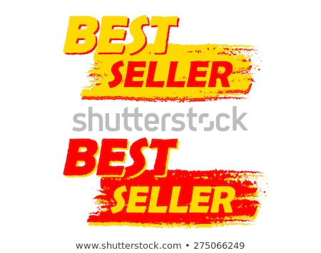 Best Seller Yellow And Red Drawn Labels Foto stock © marinini