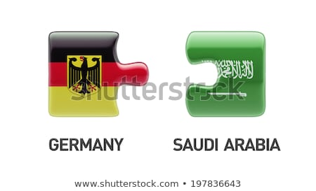 Saudi Arabia and Germany Flags in puzzle Stock photo © Istanbul2009
