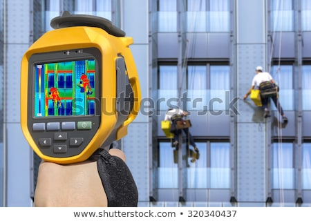 Recording Workers With Infrared Thermal Camera Stock photo © smuki