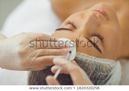 女性 ボトックス注射 額 クローズアップ 美人 オフィス ストックフォト © wavebreak_media