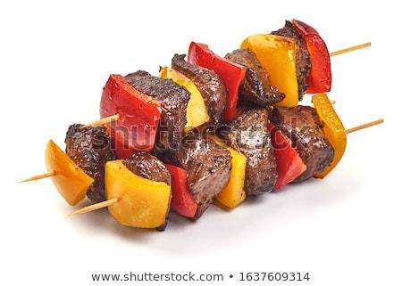 BBQ izolált barbecue grill fehér étel fekete Stock fotó © -Baks-