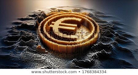 Euro valuta támogatás pénzügyi üzlet csillagok Stock fotó © Lightsource