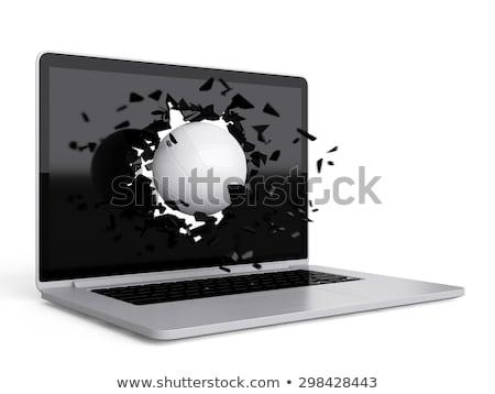 voleybol · dizüstü · bilgisayar · teknoloji · spor · bilgisayar - stok fotoğraf © teerawit