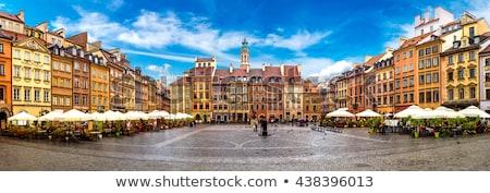 Kasteel vierkante panorama Warschau Polen Stockfoto © AndreyKr