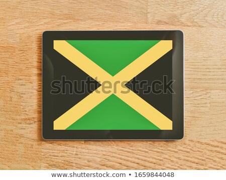 Jamaika · bayrak · boyalı · ahşap - stok fotoğraf © tang90246