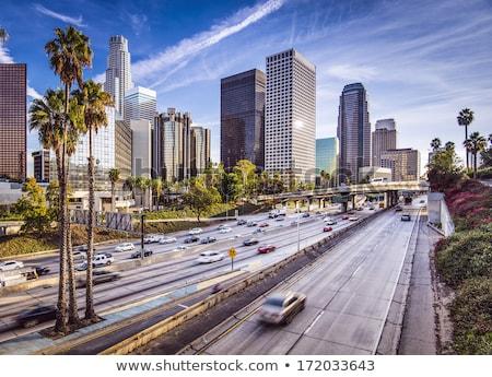 Świt Los Angeles California centrum budynków Zdjęcia stock © cboswell
