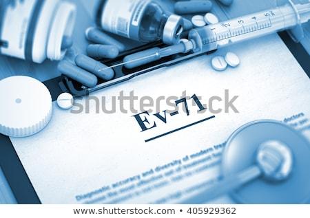 EV-71 Diagnosis. Medical Concept. Composition of Medicaments. Stock photo © tashatuvango