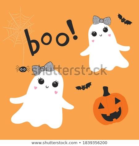 Stock photo: Halloween pretty pumpkin, vector illustration