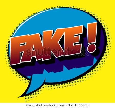 Podróbka słowo mężczyzna strony czarny informacji Zdjęcia stock © fuzzbones0