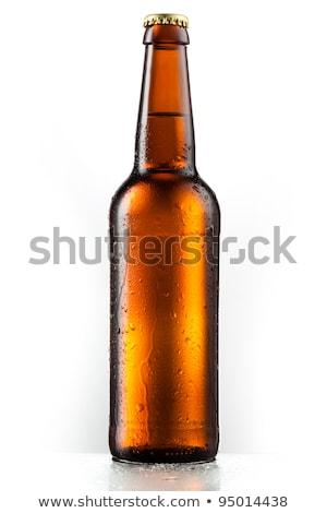 Bruin bierfles afbeelding partij bar drinken Stockfoto © njnightsky