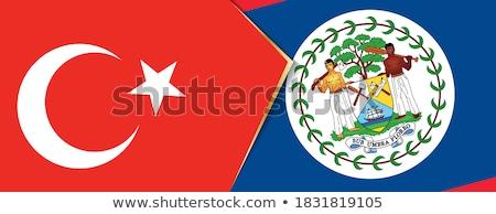 Stock fotó: Törökország · Belize · zászlók · puzzle · izolált · fehér