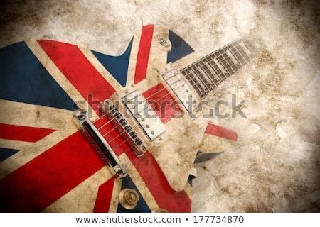 İngiliz bayrağı gitar geleneksel katı vücut elektrogitar Stok fotoğraf © Bigalbaloo