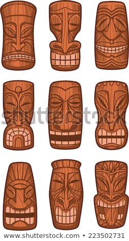 Traditionally carved wooden masks Stock photo © igabriela