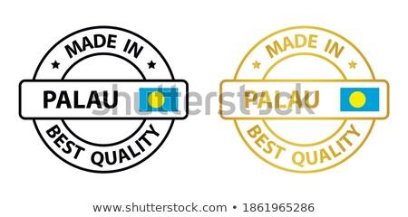 Adesivo bandeira Palau isolado branco viajar Foto stock © MikhailMishchenko