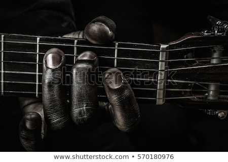 Blues guitare typique isolé blanche musique Photo stock © Bigalbaloo
