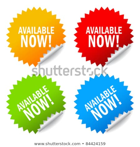Available Yellow Vector Icon Button Stock photo © rizwanali3d