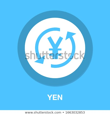 Japán yen felirat vektor ikon terv Stock fotó © rizwanali3d