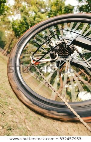 Photo stock: Courir · vélo · arrière · roue · détails