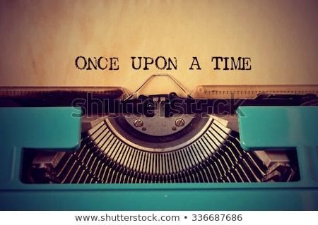 The end text on old typewriter Stock photo © stevanovicigor