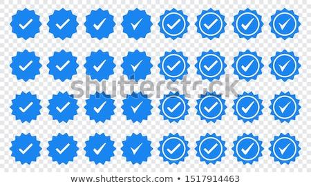 Origineel product Blauw vector icon knop Stockfoto © rizwanali3d