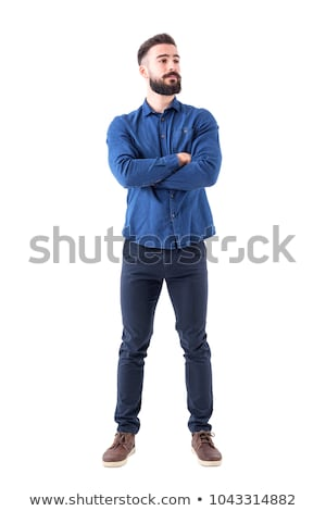 Handsome man posing with crossed arms Stock photo © deandrobot