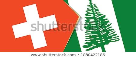 Suíça norfolk ilha bandeiras quebra-cabeça isolado Foto stock © Istanbul2009