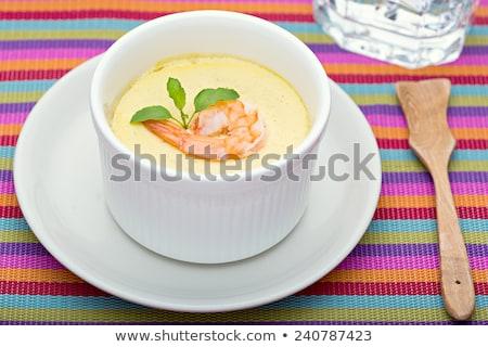 Asya stil limon Çin yemek çubukları soya sosu Stok fotoğraf © zhekos