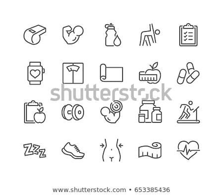 bodybuilding · sport · icon · ontwerp · fitness · gymnasium - stockfoto © rastudio