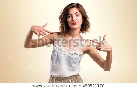 cartoon · dumny · kobieta · strony · szczęśliwy · projektu - zdjęcia stock © rastudio