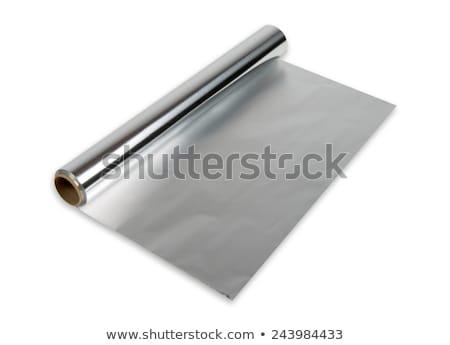 Aluminium toczyć czarny odizolowany papieru tle Zdjęcia stock © papa1266
