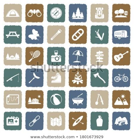 Vector Flat Camping Icons Stock photo © dashadima