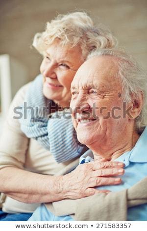 Mosolyog idős nő átkarol férj póló Stock fotó © ozgur