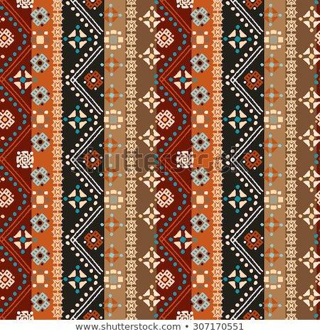 Stock photo: Tribal art ethnic seamless pattern. Boho print. Ethno ornament