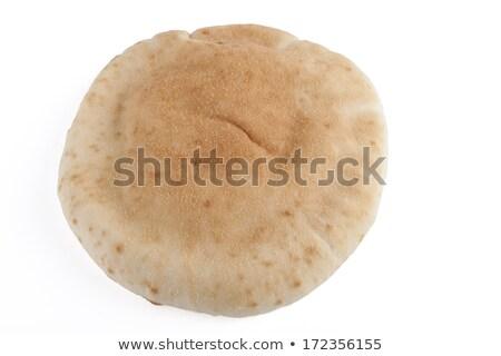 Israelense pão pita isolado preto comida Foto stock © michaklootwijk