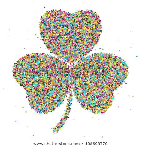 shamrock consisting of colored particles Stock photo © netkov1