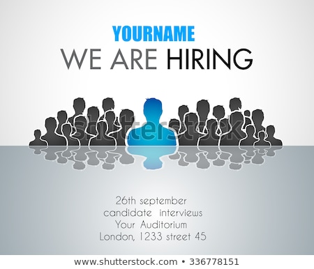 We Are Hiring background for your hiring posters and flyer Stock photo © DavidArts
