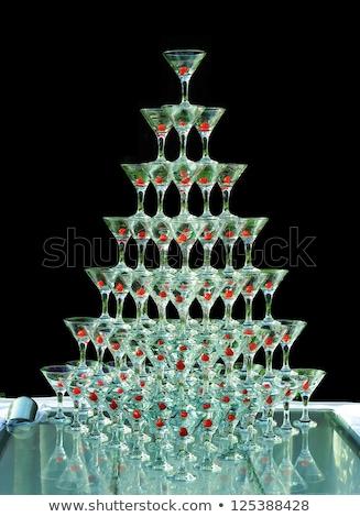 champanhe · óculos · vinho · feliz · campo - foto stock © dariazu