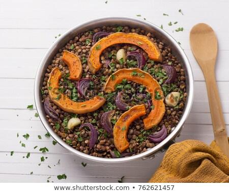 lepel · bonen · tomatensaus · gebakken · voedsel - stockfoto © digifoodstock