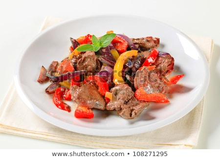 Stock photo: Chicken liver stir fry
